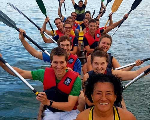 Schnupperpaddeln des ASVZ mit Drachenboot Club Meilen