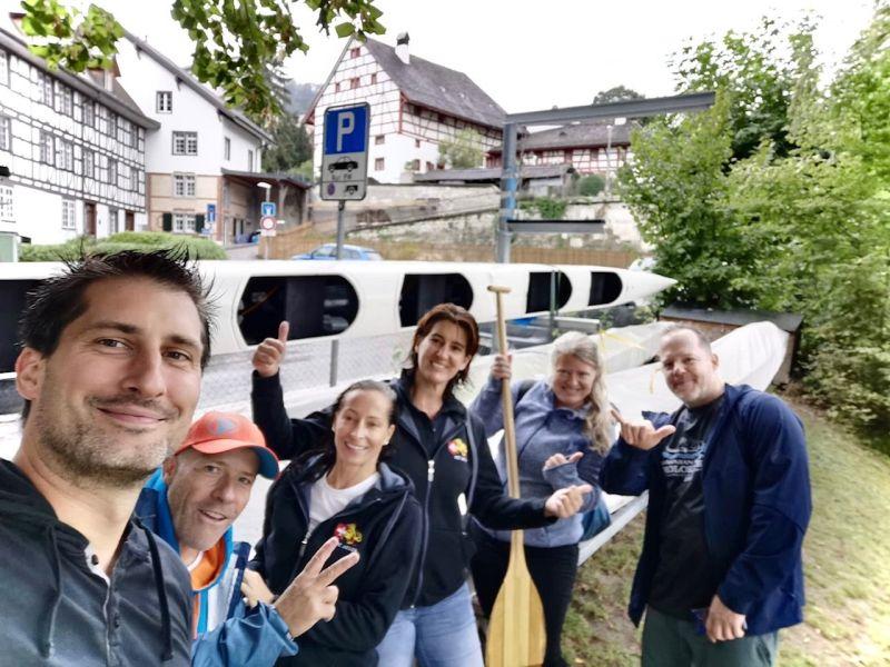 Die DBCM-Crew mit dem Eglisauer 6er-Outrigger